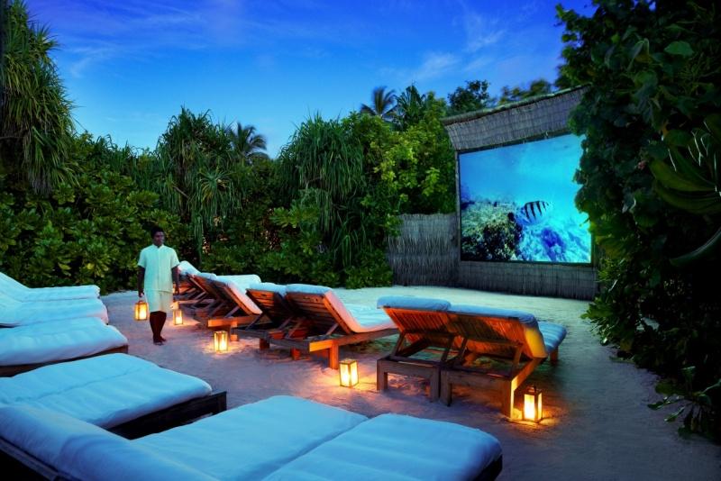 Jungle Cinema at Six Senses Laamu Resort, Maldives