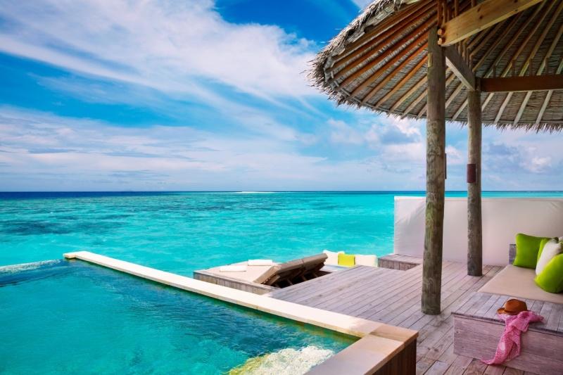 Water Villa with Pool Deck at Six Senses Laamu Resort, Maldives